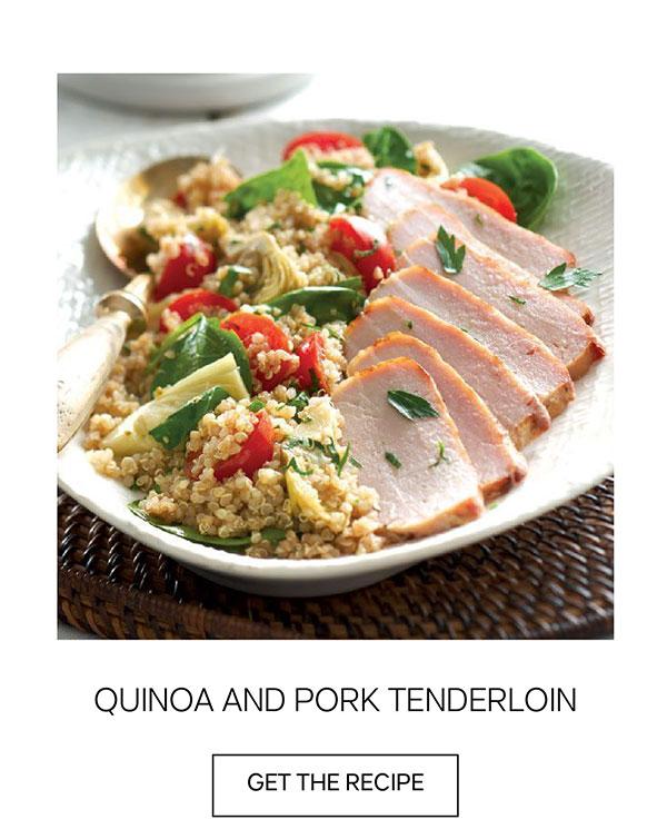 Quino and Pork Tenderloin