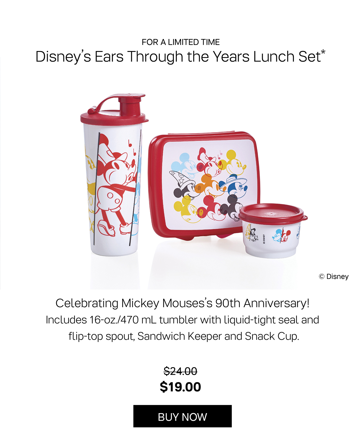 Disney's Ears Through the Years Lunch Set